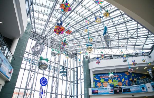 Новогоднее оформление ТРК Арена 2016