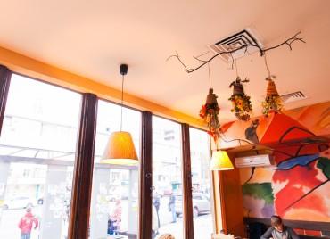 Сезонное оформление сети кафе Вермишель осень 2013